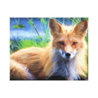Impressão Em Canvas Fox vermelho bonito