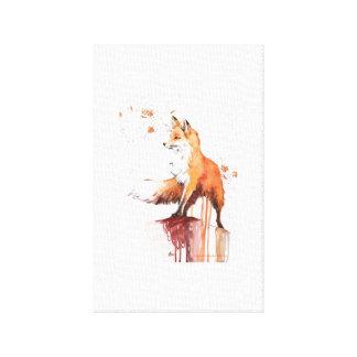 Impressão Em Canvas Fox vermelho da aguarela na arte máxima