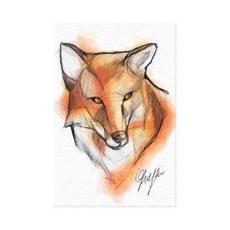 Impressão Em Canvas Fox WallArt