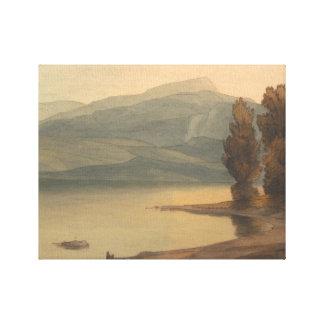 Impressão Em Canvas Francis Towne - Windermere no por do sol