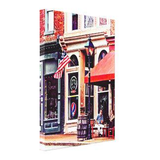 Impressão Em Canvas Fredericksburg VA - Café exterior