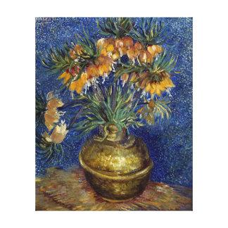 Impressão Em Canvas Fritillaries imperiais de Van Gogh em um vaso de