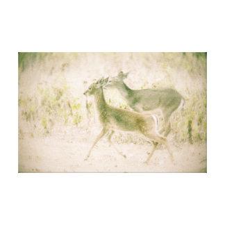 Impressão Em Canvas Funcionamento dos cervos