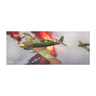 Impressão Em Canvas Fw-190 alemão no combate aéreo