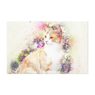 Impressão Em Canvas Gato
