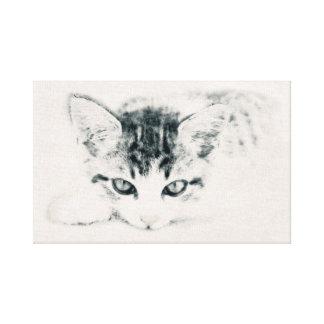 Impressão Em Canvas Gato, animais - desenhos, ilustração