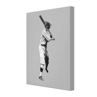 Impressão Em Canvas Gato do basebol