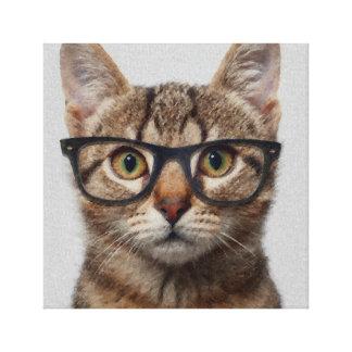 Impressão Em Canvas Gato do geek