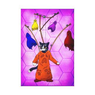 Impressão Em Canvas Gato mestre do fantoche