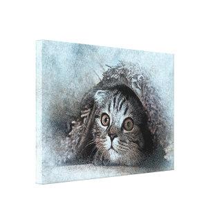 Impressão Em Canvas gato novo da forma da obra-prima bonita do design