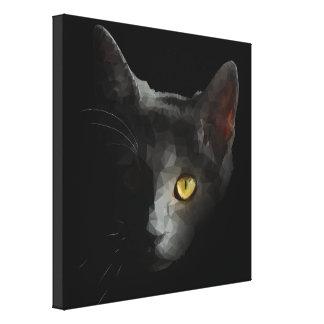 Impressão Em Canvas Gato poligonal