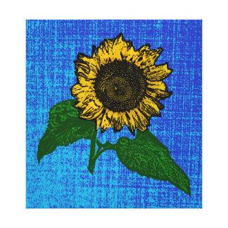 Impressão Em Canvas girassol