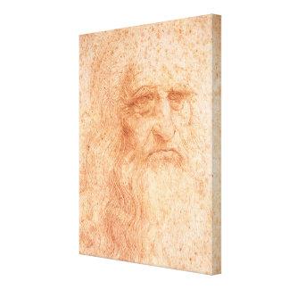 Impressão Em Canvas Giz do vermelho do retrato de auto de Leonardo da