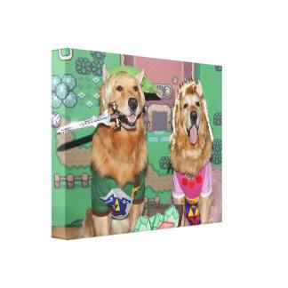 Impressão Em Canvas Golden retriever Zelda e relação