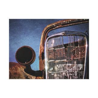 Impressão Em Canvas Grade velha oxidada do carro