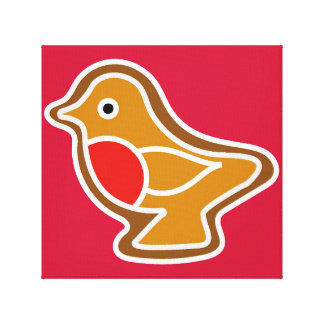 Impressão Em Canvas Grande pisco de peito vermelho do pão-de-espécie