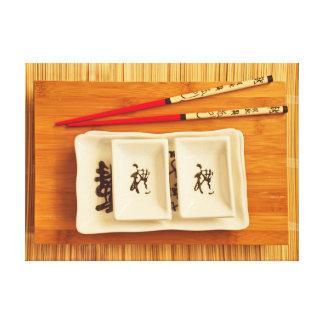 Impressão Em Canvas grupo do sushi