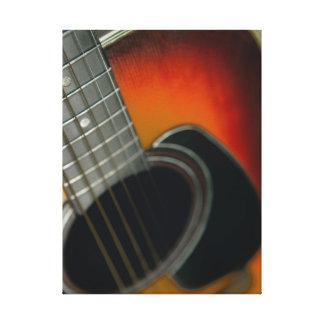 Impressão Em Canvas Guitarra - seis ascendentes próximos acústico da