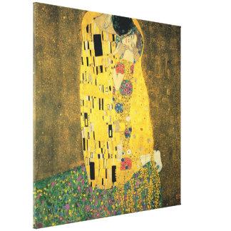 Impressão Em Canvas GUSTAVO KLIMT - O beijo 1907