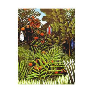 Impressão Em Canvas Henri Rousseau - arte exótica da selva da paisagem