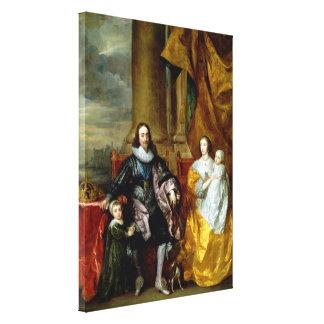 Impressão Em Canvas Henrietta Maria e Charles mim por Van Dyck