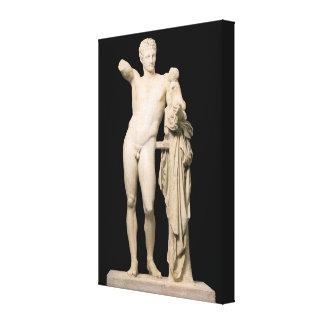 Impressão Em Canvas Hermes e o Dionysus infantil
