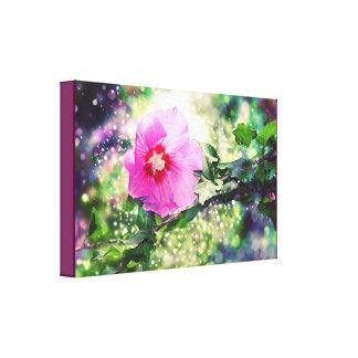 Impressão Em Canvas Hibiscus Flower - Bokeh, Lights. Hibisco