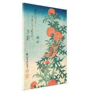 Impressão Em Canvas Hokusai Shrike e arte abençoada de GalleryHD do
