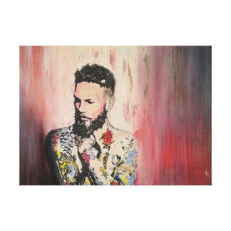 Impressão Em Canvas Homem do tatuagem