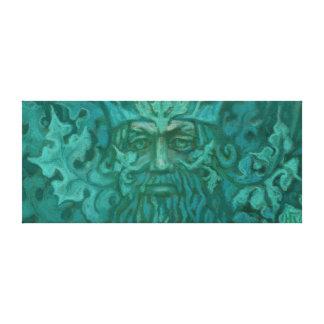 Impressão Em Canvas Homem verde, rei Fantasia Arte Pastel Pintura da