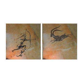 Impressão Em Canvas Íbex da caça em Cova Remigia