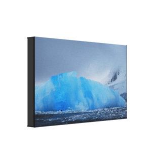 Impressão Em Canvas Iceberg azul