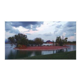 Impressão Em Canvas Ilha do lago fountain