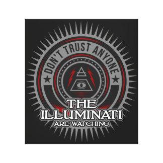 Impressão Em Canvas Illuminati está olhando não confia qualquer um