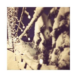 Impressão Em Canvas Iluminando a maneira ao inverno