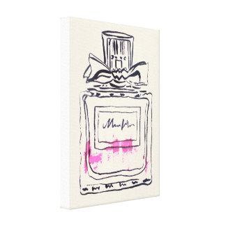 Impressão Em Canvas Ilustração do watercolour da forma da garrafa de