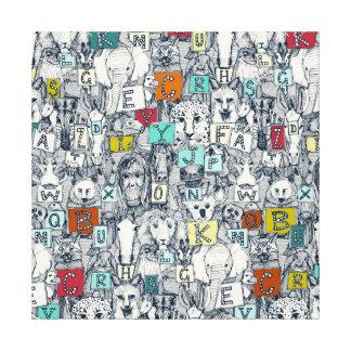 Impressão Em Canvas índigo animal de ABC multi