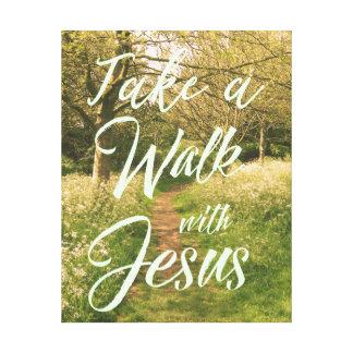Impressão Em Canvas Inspiração cristã: Tome uma caminhada com Jesus