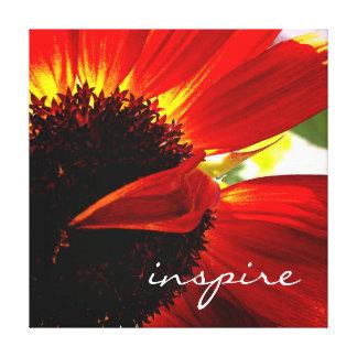 """Impressão Em Canvas """"Inspire"""" a foto vermelha do Fim-acima da"""
