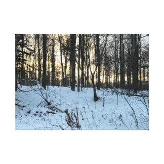 Impressão Em Canvas Inverno na península superior de Michigan em