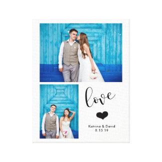 Impressão Em Canvas | irrisório moderno casamento de duas fotos
