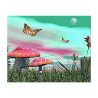 Impressão Em Canvas Jardim da fantasia - 3D rendem