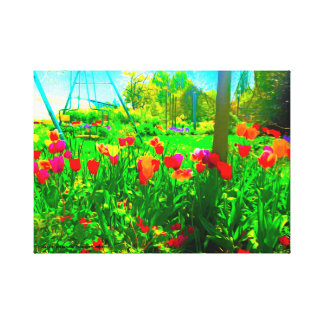 Impressão Em Canvas Jardim do quintal