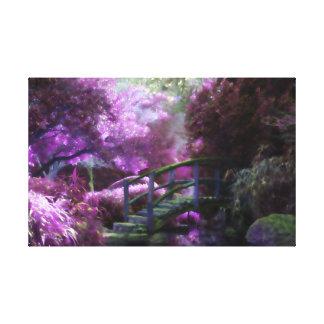 Impressão Em Canvas Jardim roxo do zen