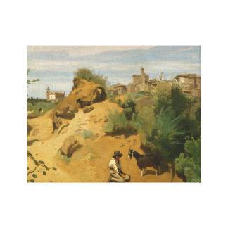 Impressão Em Canvas Jean-Baptiste-Camilo Corot - Genzano