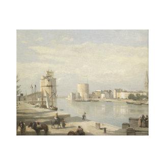 Impressão Em Canvas Jean-Baptiste-Camilo Corot - o porto