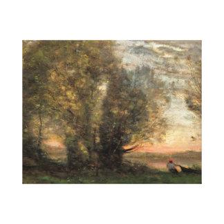 Impressão Em Canvas Jean-Baptiste-Camilo Corot - pescador