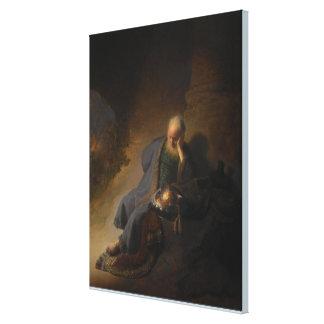 Impressão Em Canvas Jeremiah que deplora a destruição de Jerusalem