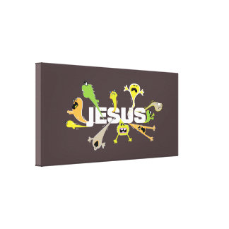 Impressão Em Canvas Jesus assustador (branco)
