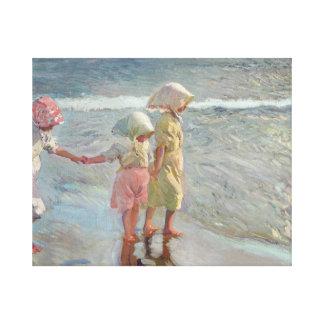 Impressão Em Canvas Joaquin Sorolla - três irmãs